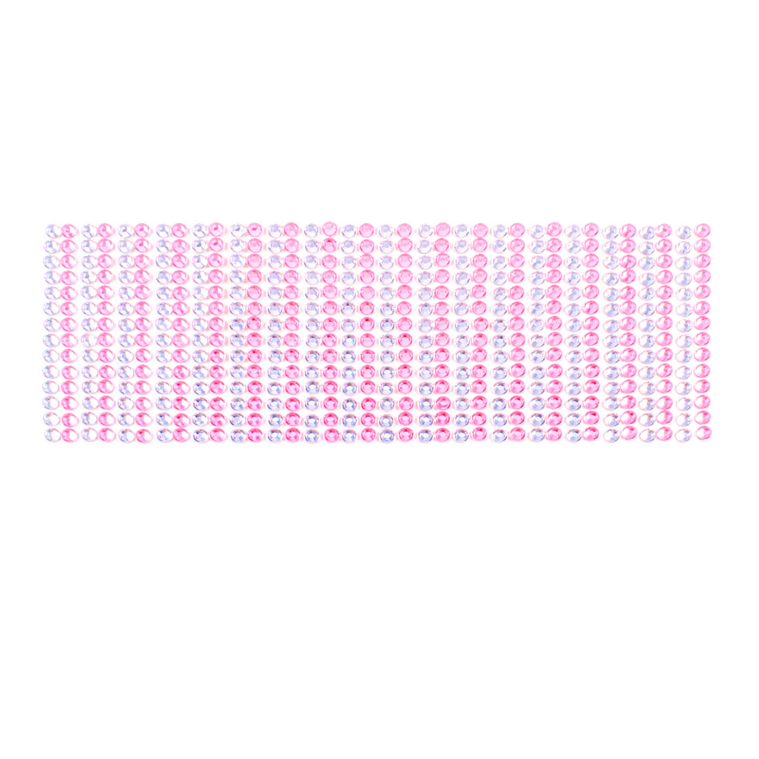 Unique Bargains 38 in 1 Pink Clear Glistening Rhinestones Sticker Decoration for Car Truck