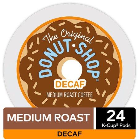 The Original Donut Shop Decaf, K-Cup Pods, Medium Roast, 24 Count For Keurig Brewers ()