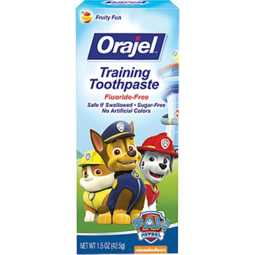 Orajel Toddler Training Toothpaste, Fruity Fun, 1.50 oz (Pack of 4)
