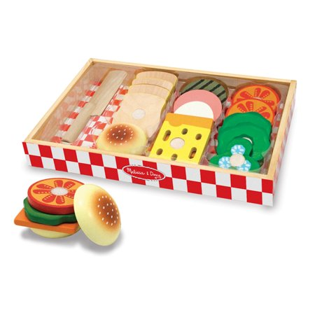 Melissa & Doug Wooden Sandwich-Making Pretend Play Food - Melissa And Doug Play Food