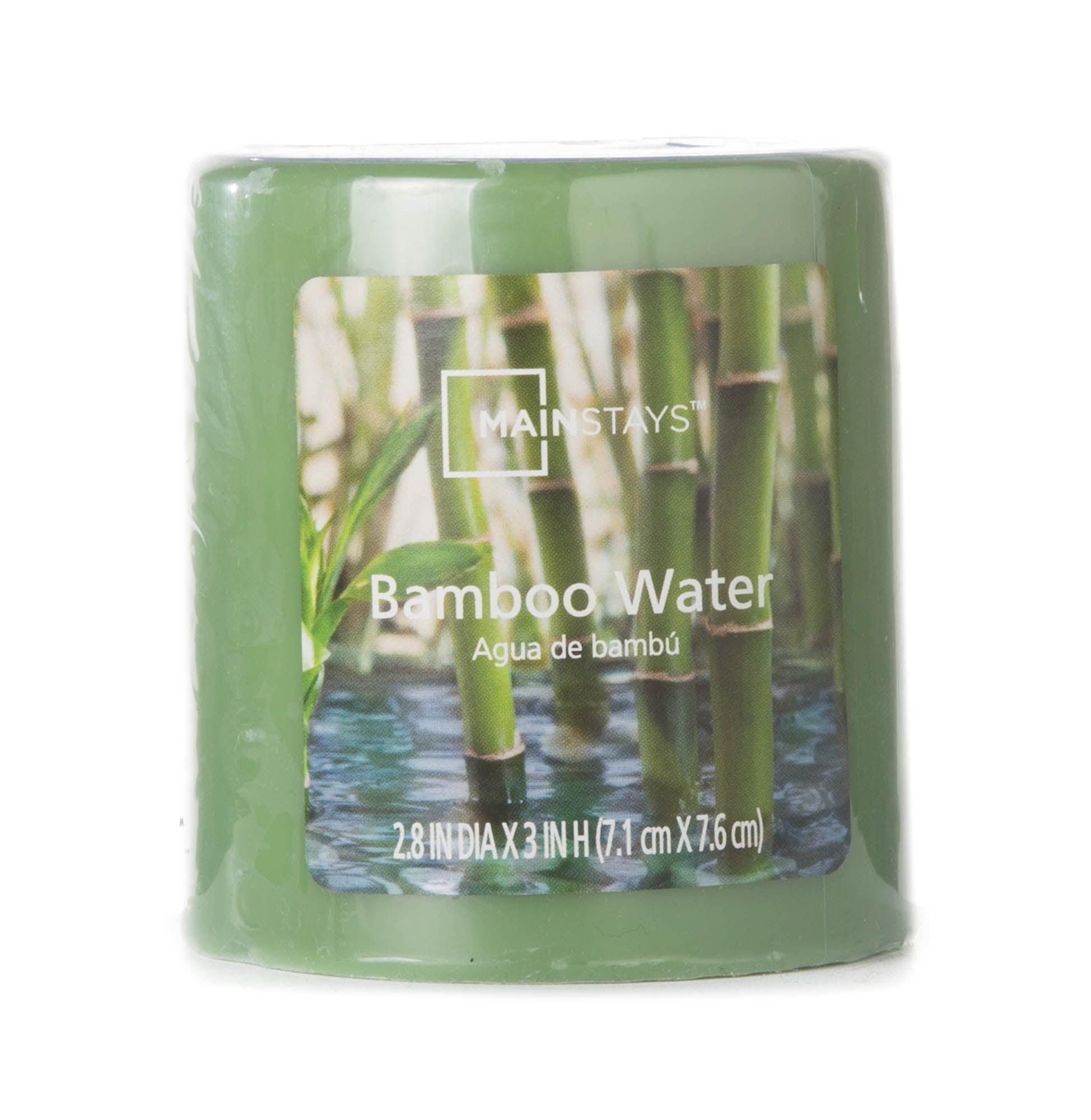 "Mainstays 3"" Pillar Bamboo Water Candle"