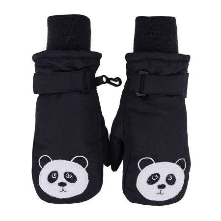 Toppers Kids Boys Girls Thinsulate Lined Gloves Waterproof Panda Ski Mitten XS