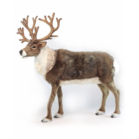 """47"""" Life-Size Handcrafted Extra Soft Plush Nordic Reindeer Stuffed Animal"""