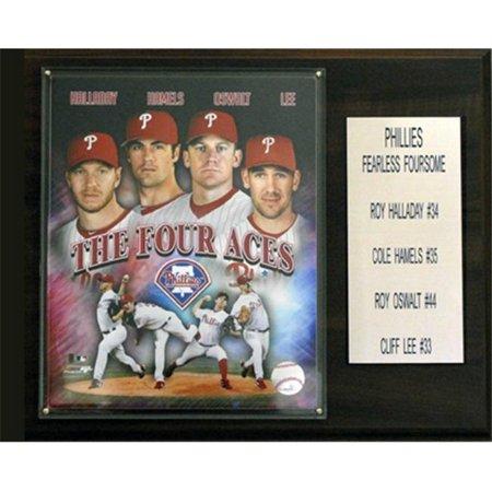 Plaque C & I Collectables 1215PHILSBIG4 MLB Halladay-Lee-Oswalt-Hamels Philadelphia Phillies joueur - image 1 de 1