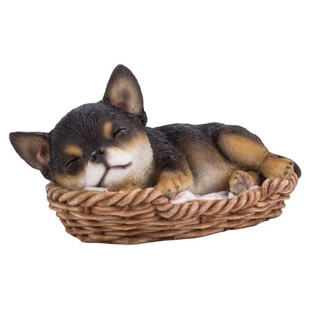 Chihuahua Puppy in Wicker Basket Pet Pals Collectible Dog Figurine 6.5 Inches L ?