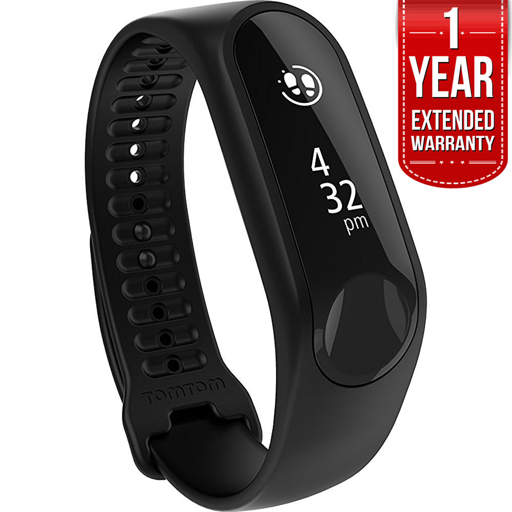 TomTom 1AT0.002.00 Touch Cardio Fitness Tracker Black Small with 1-Year Extended Warranty
