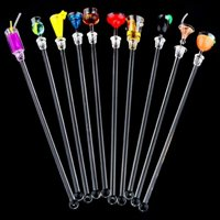 Colorful Acrylic Cocktail Drink Swizzle Stirrer Sticks with Cup Shape 10 pcs