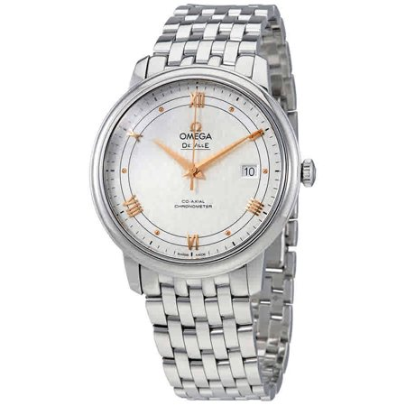Omega De Ville Prestige Co-Axial Silver Dial Mens Watch