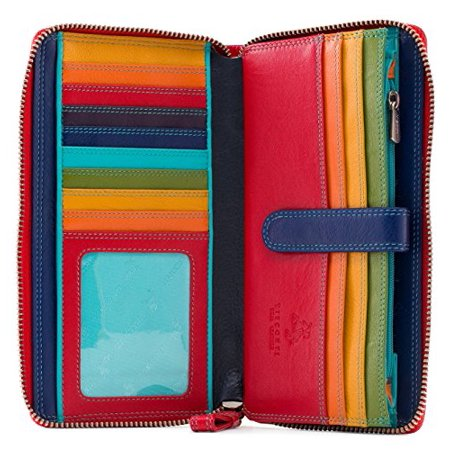 Visconti Spectrum 33 Multi Colored Soft Leather Ladies Wallet Purse Clutch  R
