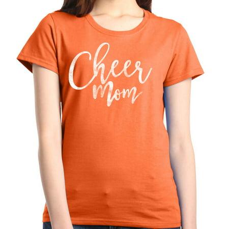 Cheerleader Dark T-shirt - Shop4Ever Women's Cheer Mom Cheerleader Graphic T-Shirt