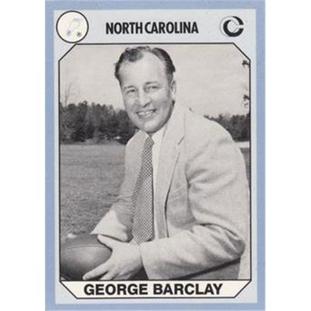 George Barclay Football Card (North Carolina) 1990 Collegiate Collection No.121