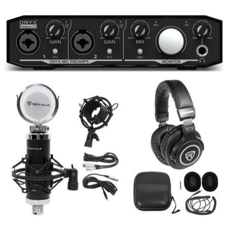 Mackie Onyx Producer 2.2 USB Audio Recording Interface+Studio Mic+Headphones Mackie Onyx Recording