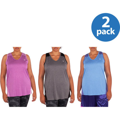 Image of AND1 Women;s Plus-Size Tonal Heather Seamed Tank