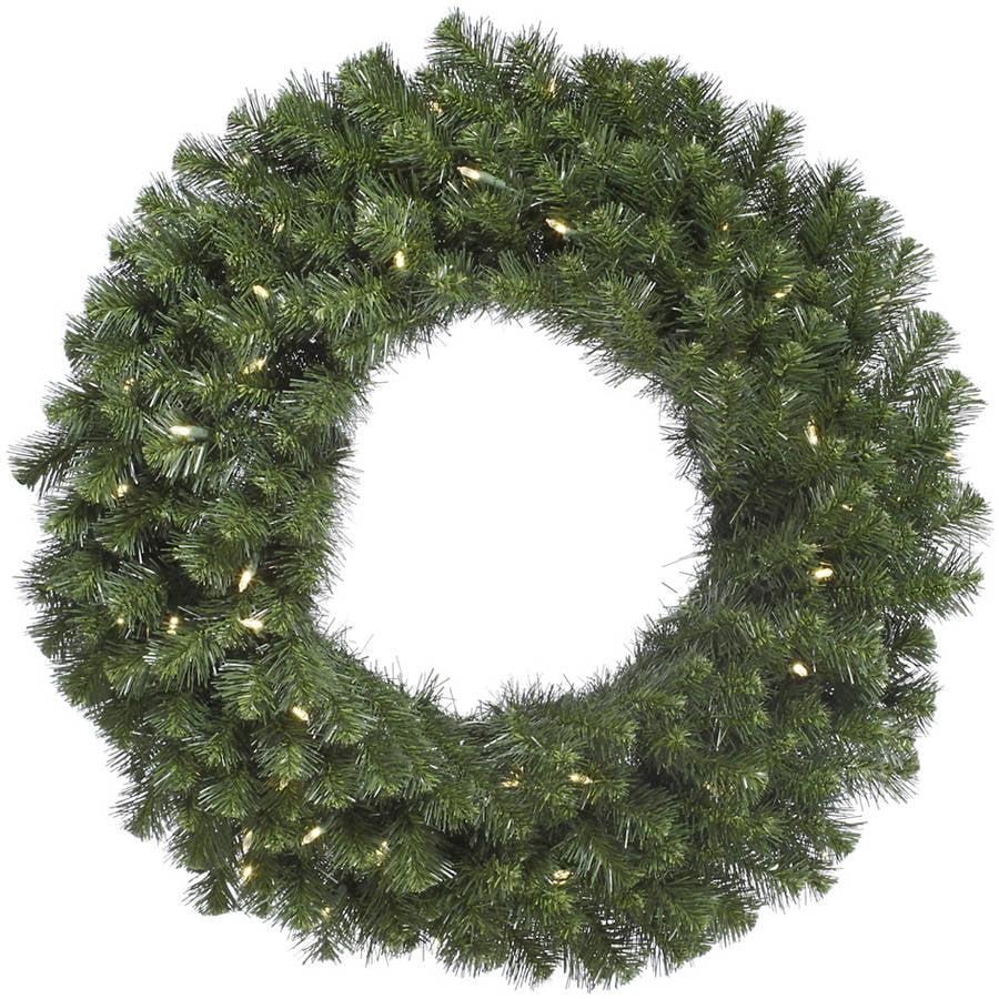 """Vickerman 72"""" Douglas Fir Wreath 200 Warm White LED"""