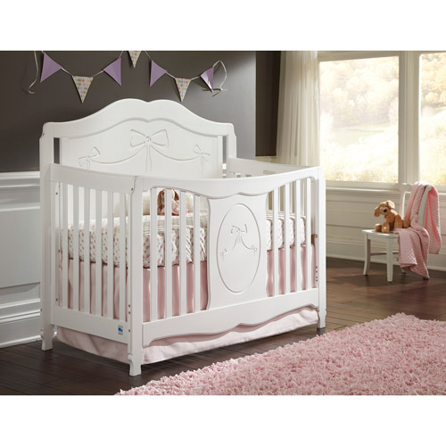 Storkcraft Princess 4-in-1 Fixed-Side Convertible Crib, White