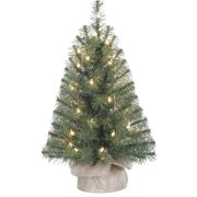 holiday time pre lit 2 noble fir artificial christmas tree clear lights - Mini Artificial Christmas Trees