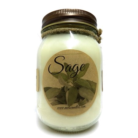 Sage 16oz Country Jar All Natural Handmade Soy Candle Approximate Burn Time 144 Hours 100 Hr Soy Candle
