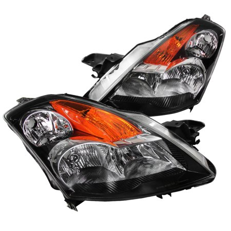 Spec-D Tuning For 2007-2009 Nissan Altima 4Dr Black Clear Crystal Headlights Pair 2007 2008 2009 (Left+Right)
