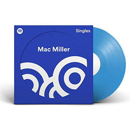 """Mac Miller - Spotify Singles Exclusive Limited Edition Baby Blue 7"""" Vinyl LP"""