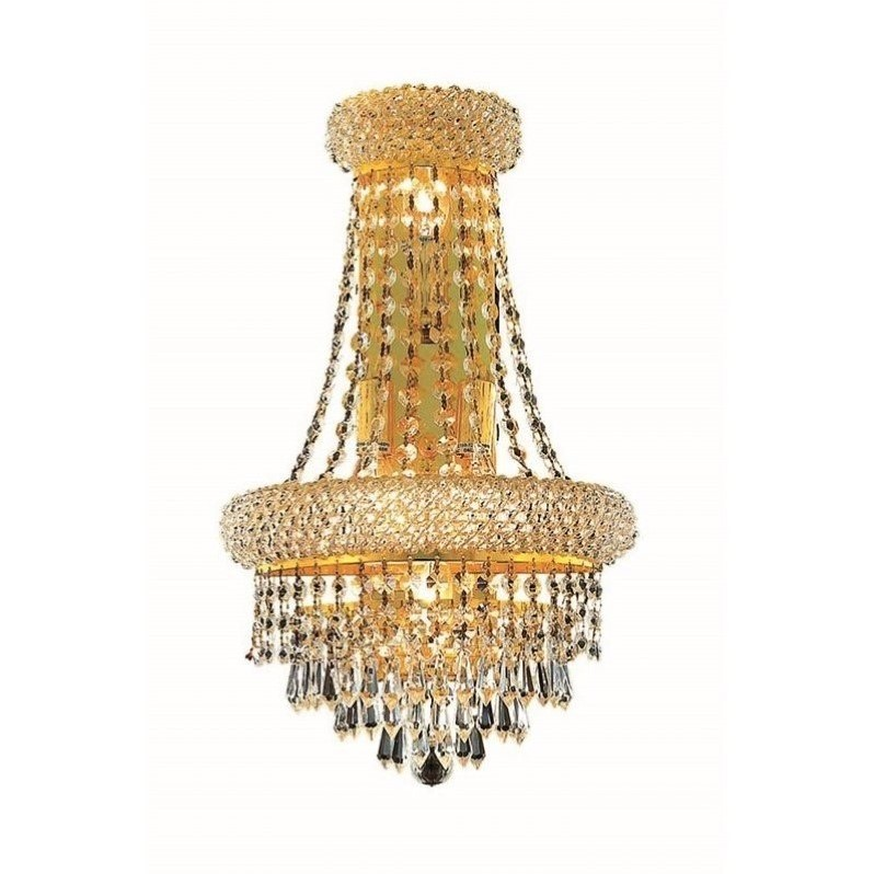 "Elegant Lighting Primo 18"" 4 Light Elegant Crystal Wall Sconce by Elegant Lighting"