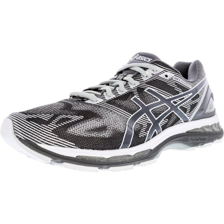 check out 1f030 ad255 Asics Men's Gel-Nimbus 19 Carbon / White Silver Ankle-High Running Shoe -  10W
