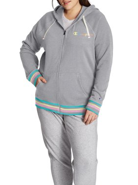 Champion Womens Plus Size Campus French Terry Zip Hoodie