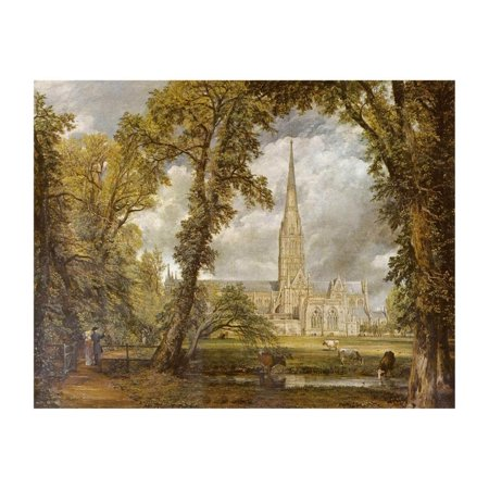 John Constable (The cathedral of Salisbury from the garden of the (John Constable Salisbury Cathedral From The Meadows)