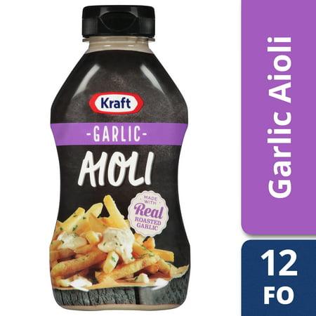 (3 Pack) Kraft Mayo Garlic Aioli, 12 fl oz