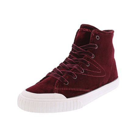 Tretorn Women's Marley Hi 4 Velvet Rubino / White High-Top Fashion Sneaker - 8M (Brooklyn Hi Shoes)