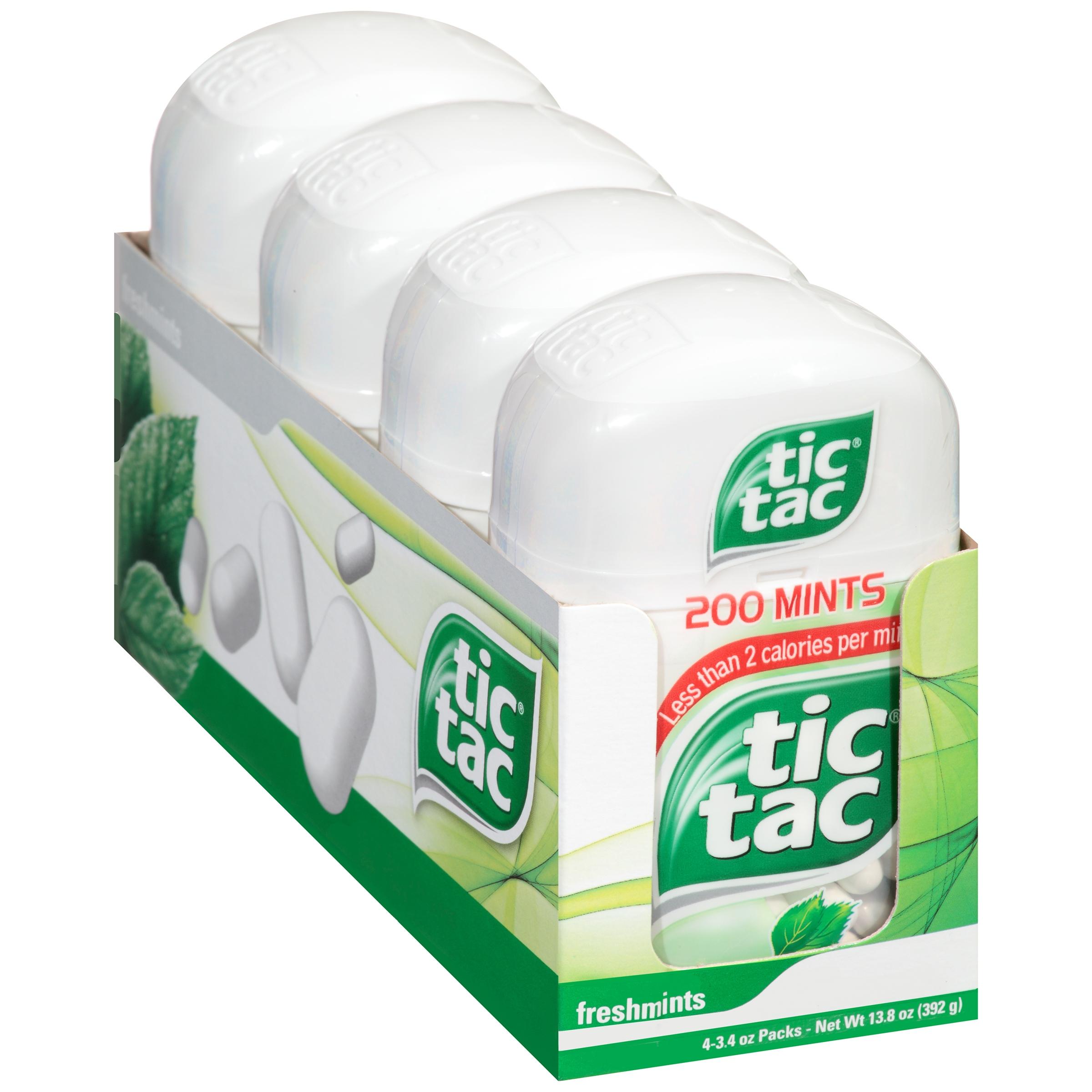 Freshmints Tic Tac Mints 4-3.4 oz. Packs by Ferrero U.S.A. Inc.