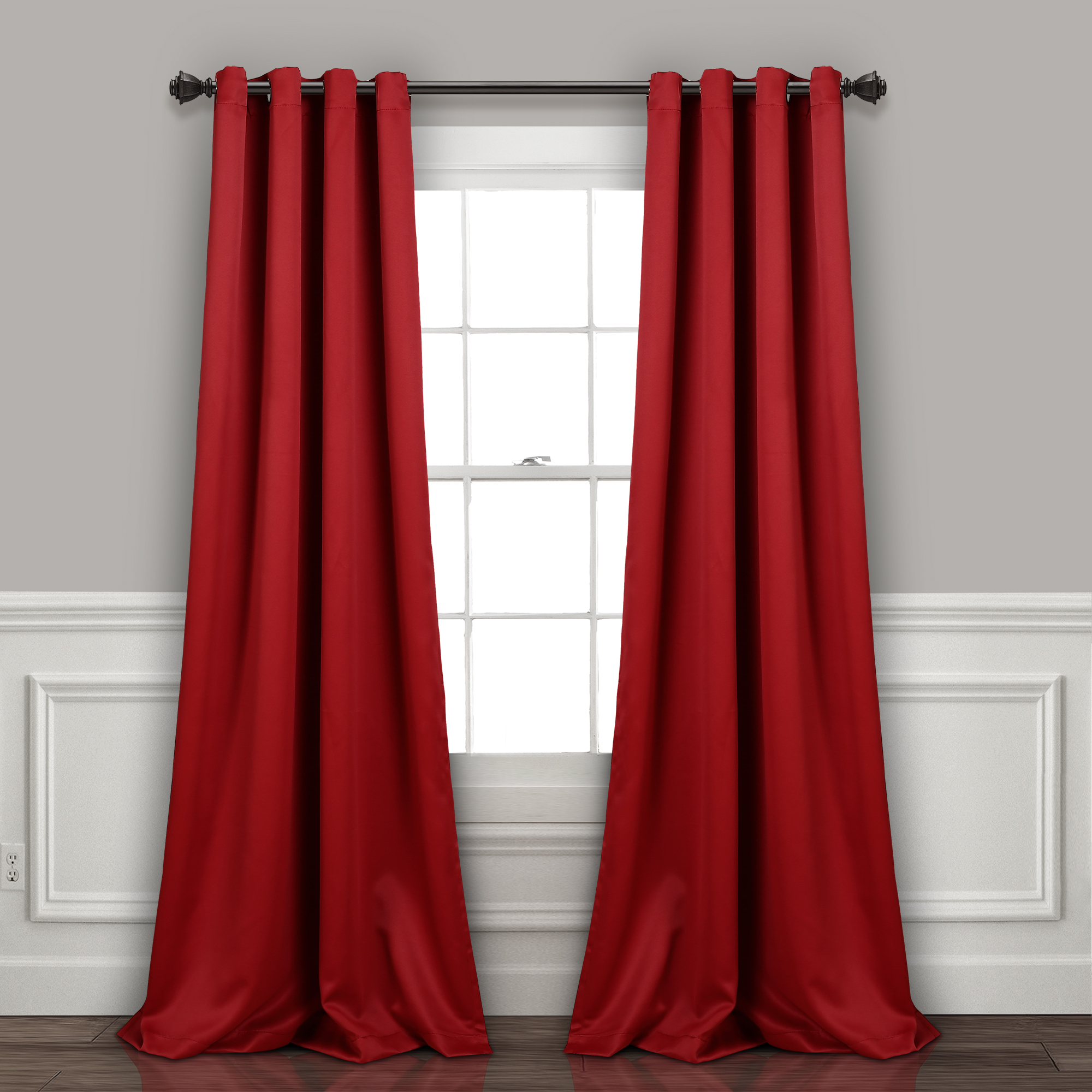 Lush Décor Insulated Grommet Blackout Curtain Panels Pair