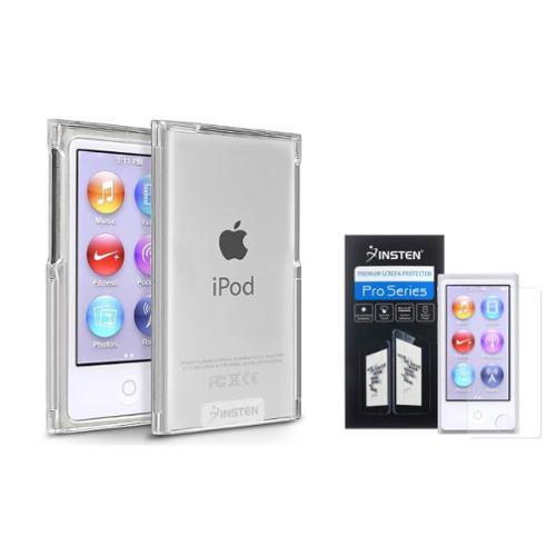 Insten Clear Color Plastic Hard Skin Cover Case For iPod Nano 7 7th Gen 7G+Anti-Glare Film