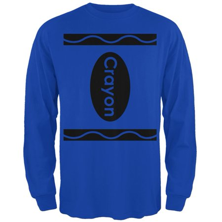 Crayon Costume Royal Adult Long Sleeve T-Shirt - Crayon T Shirt