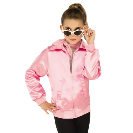 Grease Girls 1950'S Pink Ladies Frenchie Rizzo Childs Costume Jacket (Greaser Jacket Costume)