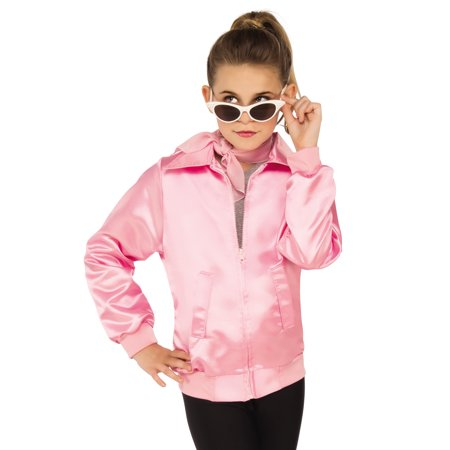 Grease Girls 1950'S Pink Ladies Frenchie Rizzo Childs Costume Jacket](Kids Greaser Costume)