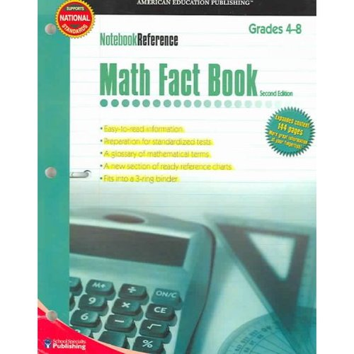 Math Fact Book: Grades 4-8