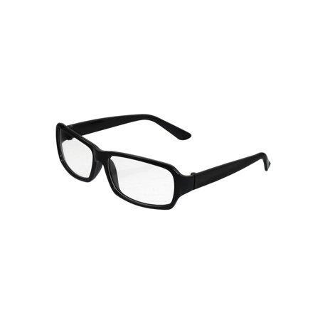 Women Men Black Frame Clear Lens Plain Glasses Eyeglasses (Latest Spectacle Frames For Men)