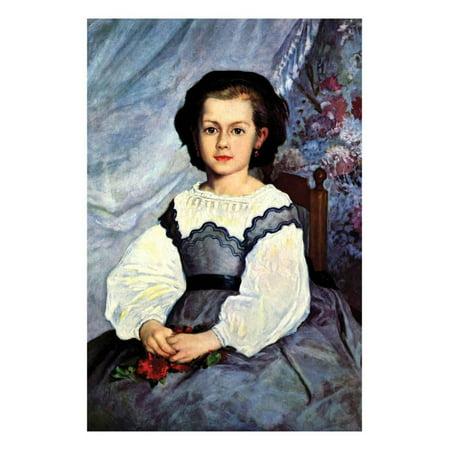 Portrait of Mademoiselle Romaine Lancaux Print Wall Art By Pierre-Auguste Renoir ()