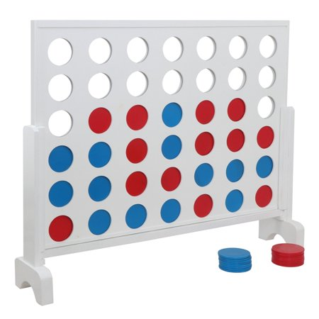Zeny Giant 4 in a Row Game with Carrying Case - 3 foot Width - Made from Wood, Outdoor Indoor All Ages Recreation