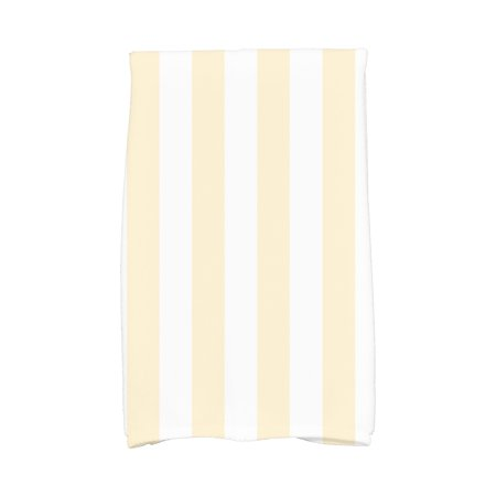 Simply Daisy, 16 x 25 Inch, Rugby Stripe, Stripe Print Kitchen Towel, Yellow ()