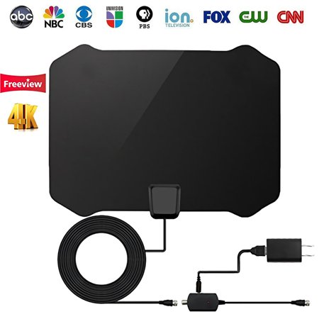 2019 Newest HDTV Antenna Indoor Digital TV Antenna, 50 Miles Range with Detachable Amplifier Signal Booster and 13FT Coaxial