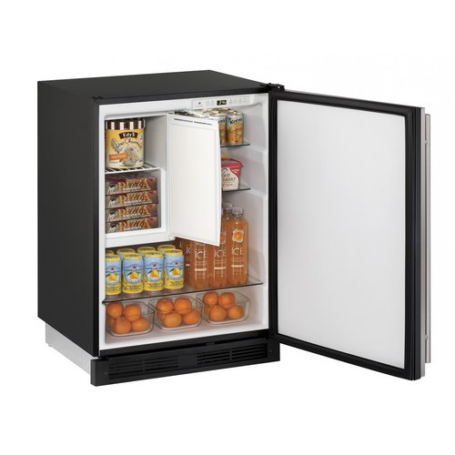 U-Line 1000 Series Reversible Stainless Steel 24-inch 4.2 cu. ft. Undercounter Refrigeration with Freezer