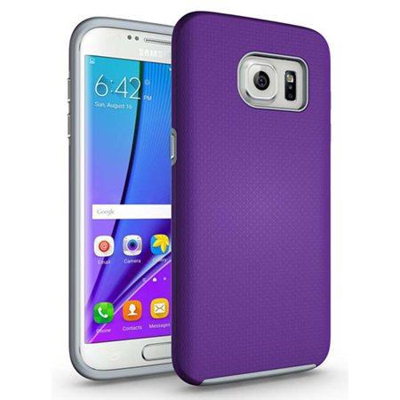 s7 EDGE CASE, Nakedcellphone's ANTI-SLIP TEXTURED GRIP SKIN HARD CASE COVER FOR SAMSUNG GALAXY S7 EDGE (with dedicated chrome
