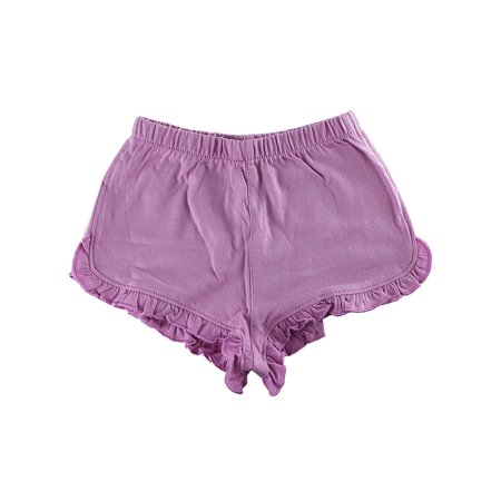 - First Impressions Baby Girls Solid Ruffle-Waist Purple Shorts