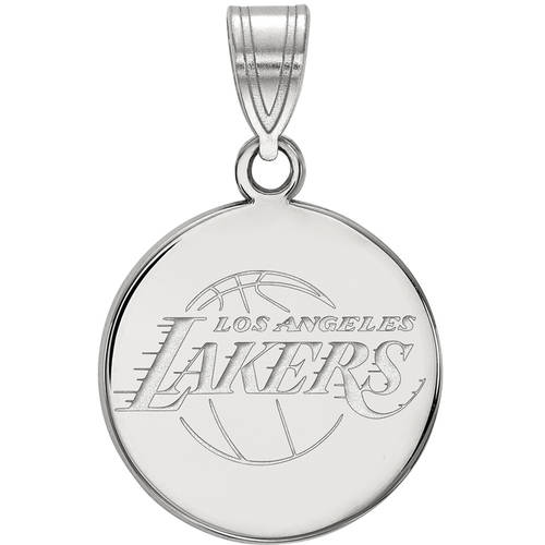 LogoArt NBA Los Angeles Lakers Sterling Silver Medium Disc Pendant