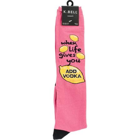 Novelty Knee High Socks-Life & Lemons - image 1 of 1