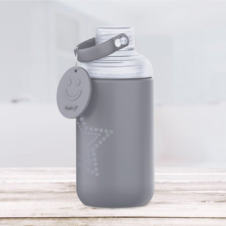 SimpleHH Silicone Glass Water Bottle|16 (Glasses Black And White)