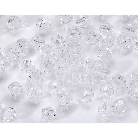 Darice Crystal Beads - Darice Clear Crystal Plastic Faceted Beads, 8mm, 480 Pieces