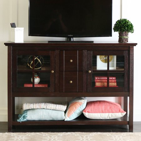 Walker Edison 52u0022 Wood Console Table Buffet TV Stand for TVs up to 55u0022 - Espresso