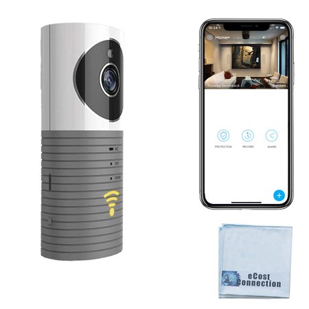 eCostConnection HD Wi-Fi Wireless Camera for Home Security, Baby, Pet Monitor Surveillance with Motion Detection, Microphone, Speaker Infrared LED Night Vision and Micro SD Slot for Local Storage - Lcd Dig Camera